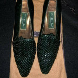 Cole Haan Weave Pattern Leather Pumps
